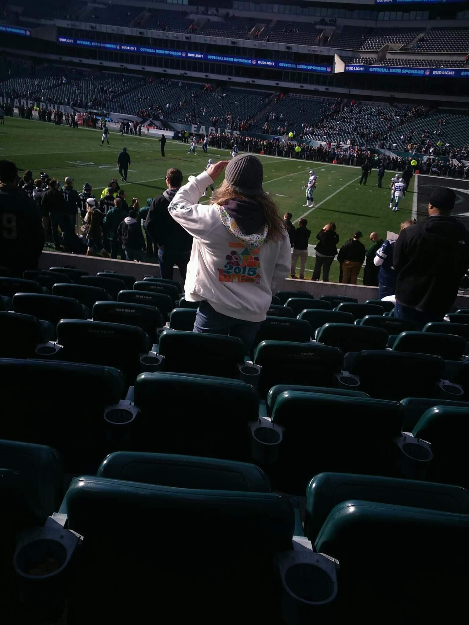 Lincoln Financial Field Section 124 Row 9 Seat 16