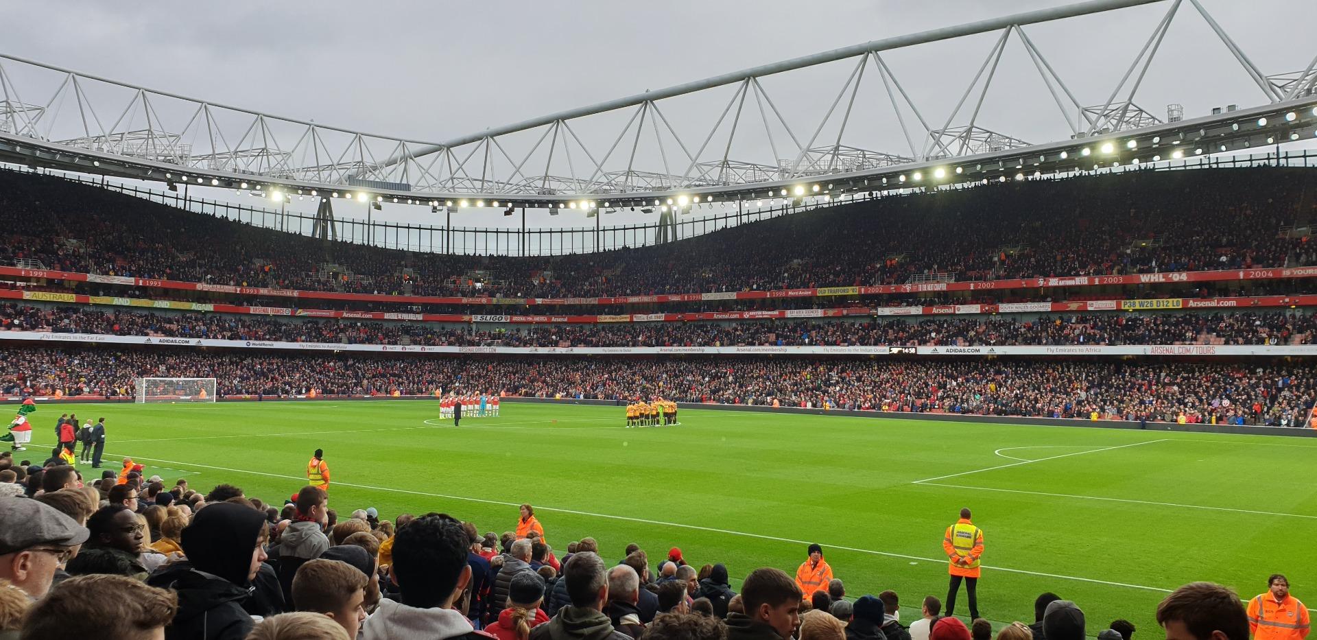 Emirates Stadium Section 29 Row 15 Seat 918