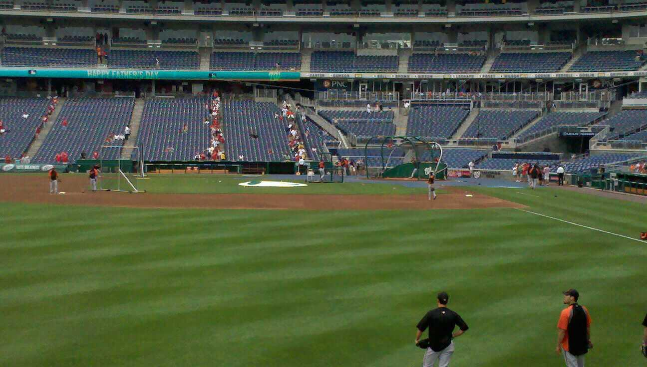 Nationals Park Section 105 Row A Seat 16