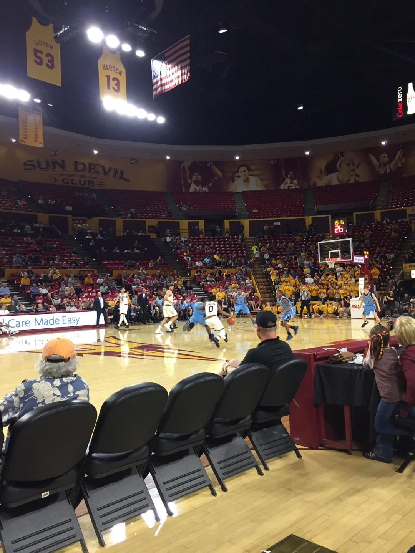 Wells Fargo Arena (Tempe) Section U Row 2 Seat 7