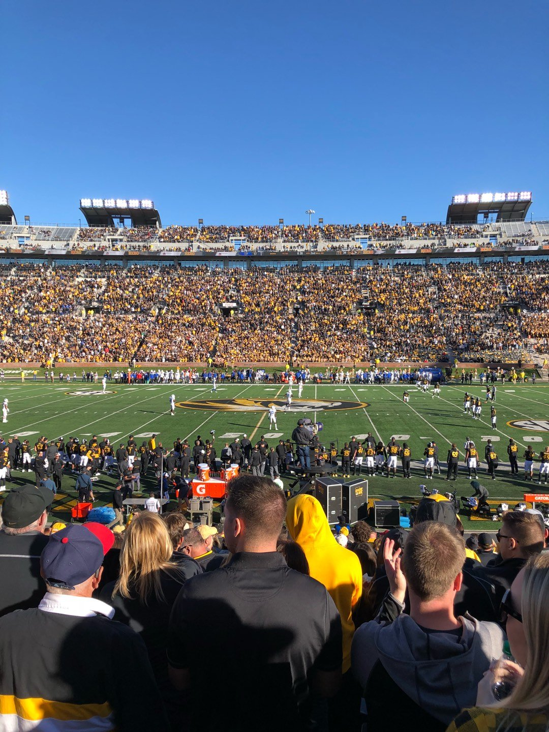 Faurot Field Section 121 Row 21 Seat 20