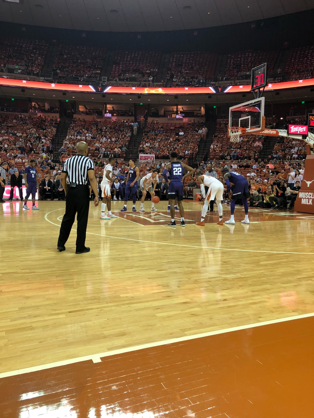 Frank Erwin Center Section COURT Row 1