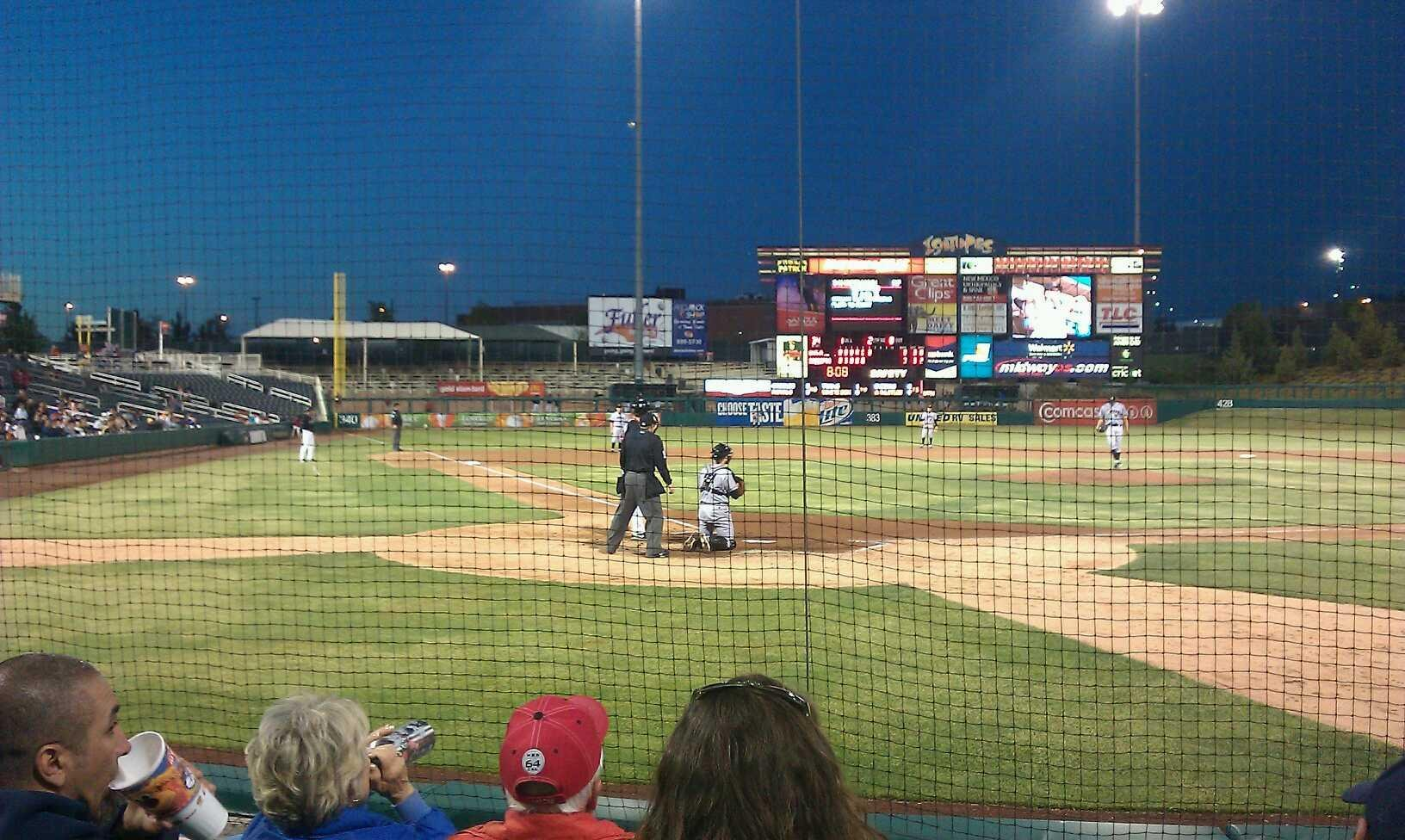 Isotopes Park Section 104 Row E Seat 6