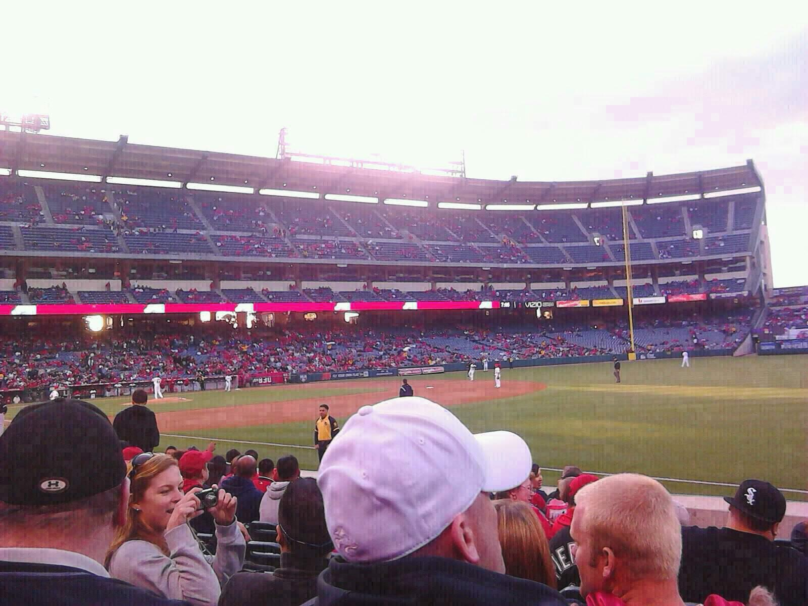 Angel Stadium Section F129 Row J Seat 11