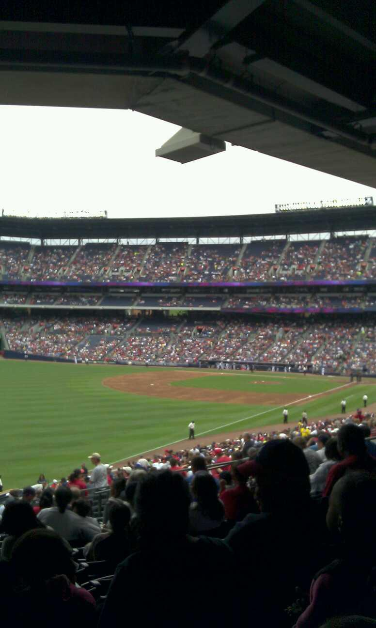 Turner Field Section 230 Row 13 Seat 7