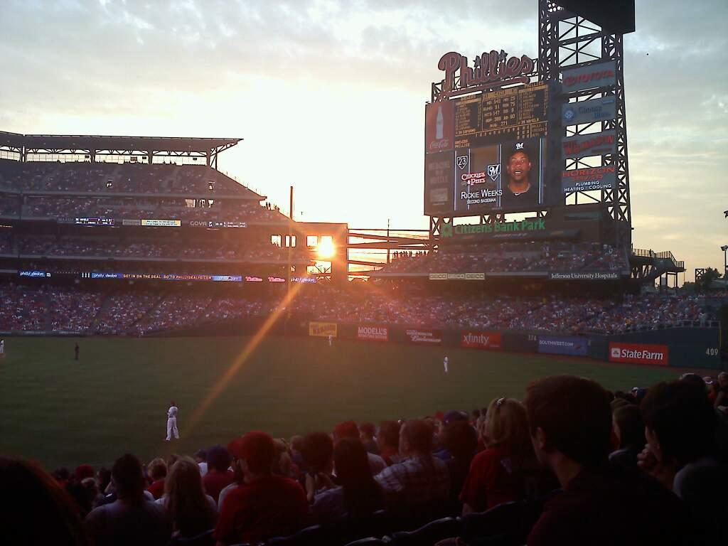 Citizens Bank Park Section 106 Row 16 Seat 14
