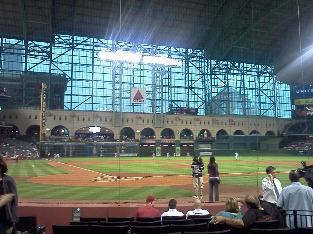 Minute Maid Park Section E Row 8 Seat 4