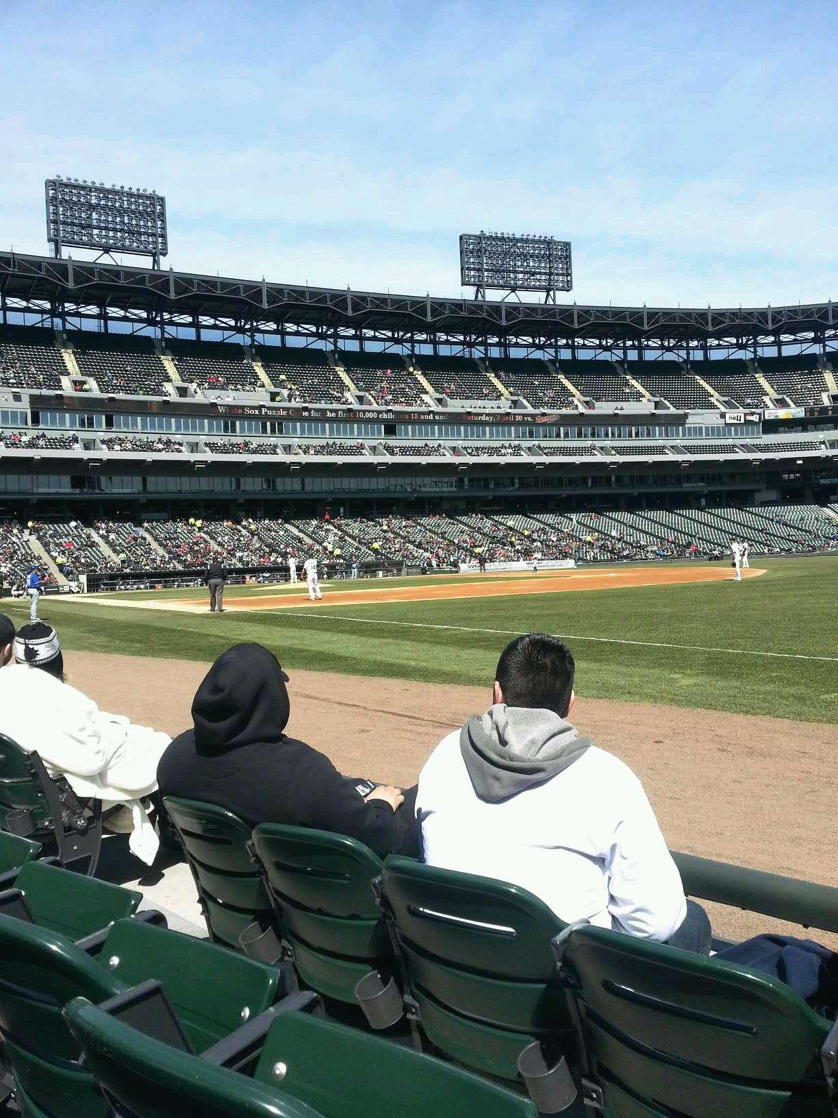 Guaranteed Rate Field Section 116 Row 2 Seat 4
