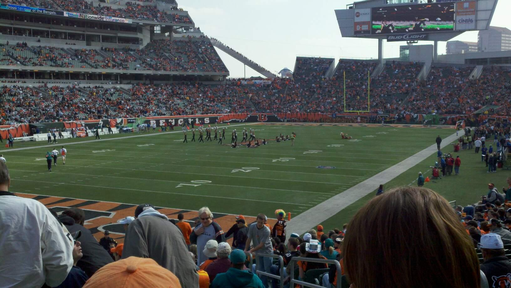 Paul Brown Stadium Section 120