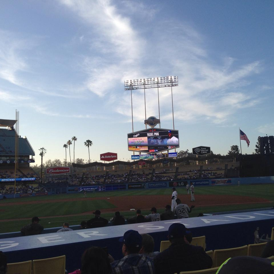 Dodger Stadium Section 20FD Row B Seat 1