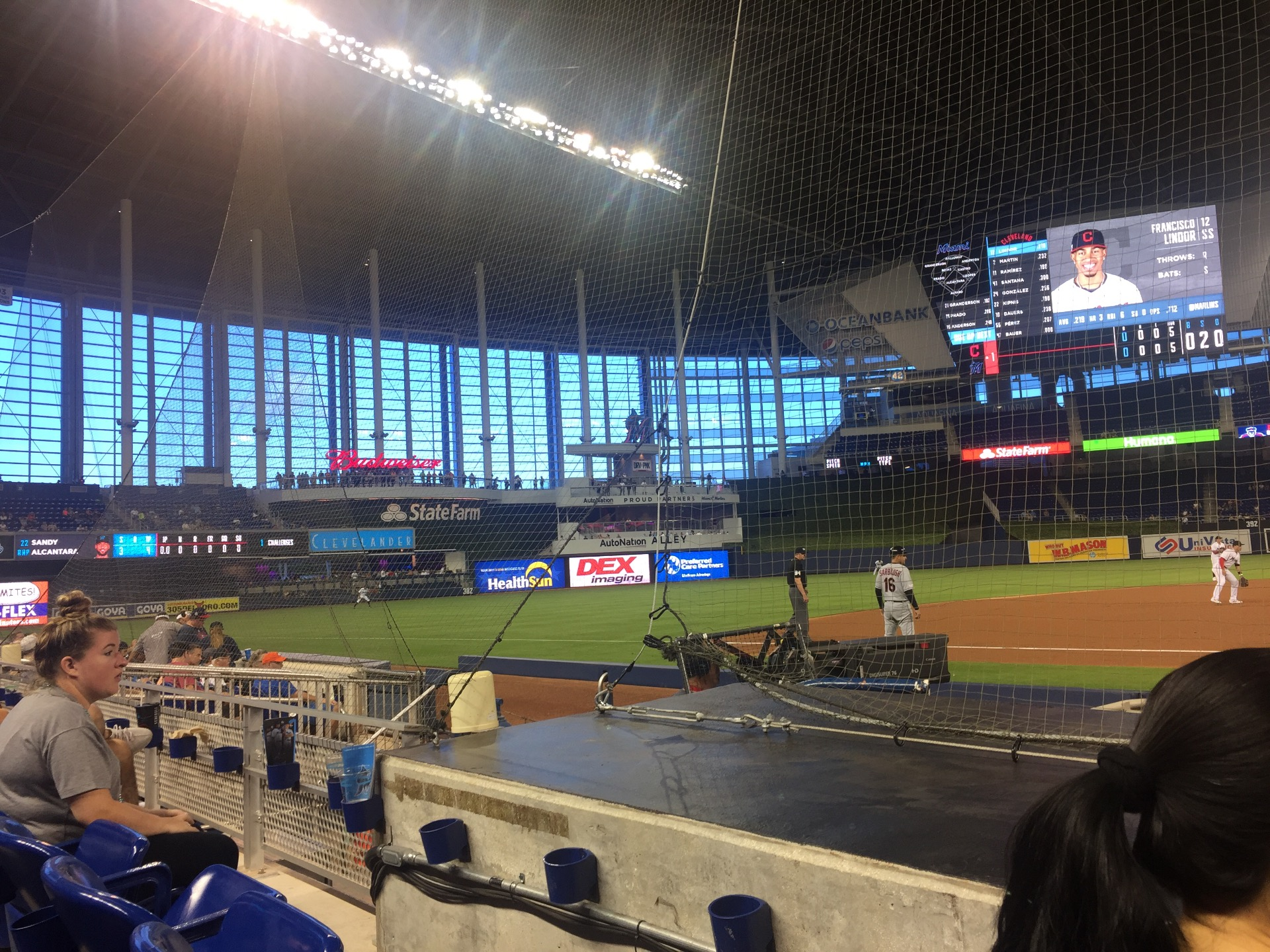 Marlins Park Section 21 Row B Seat 1