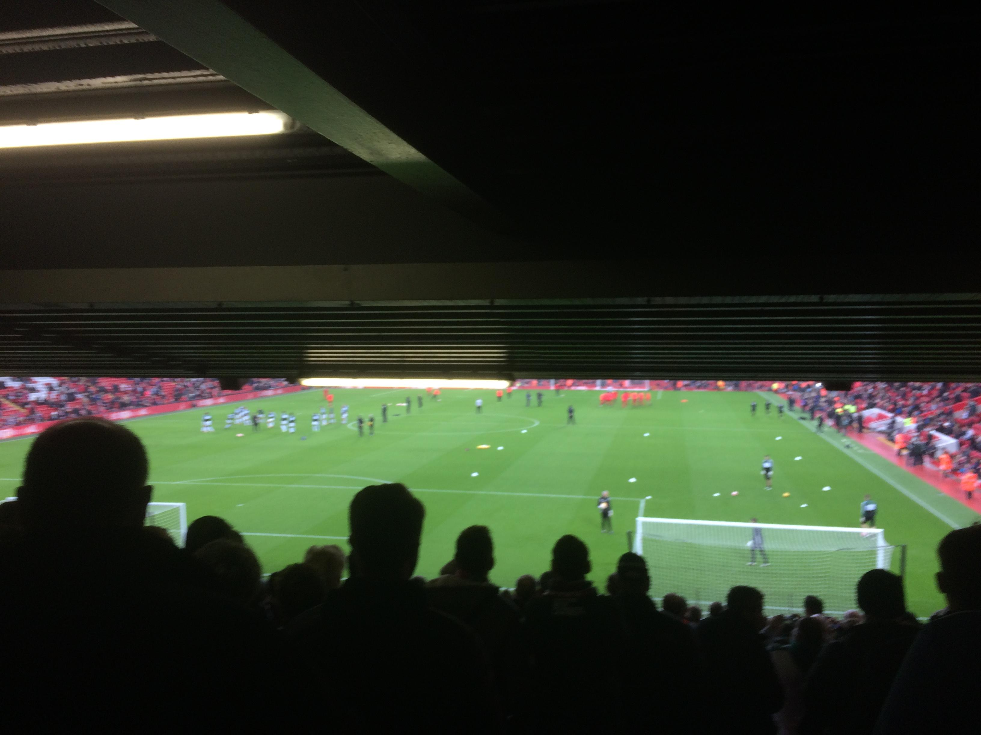 Anfield Section Anfield Road Lower Tier Block  Row 34 Seat 159