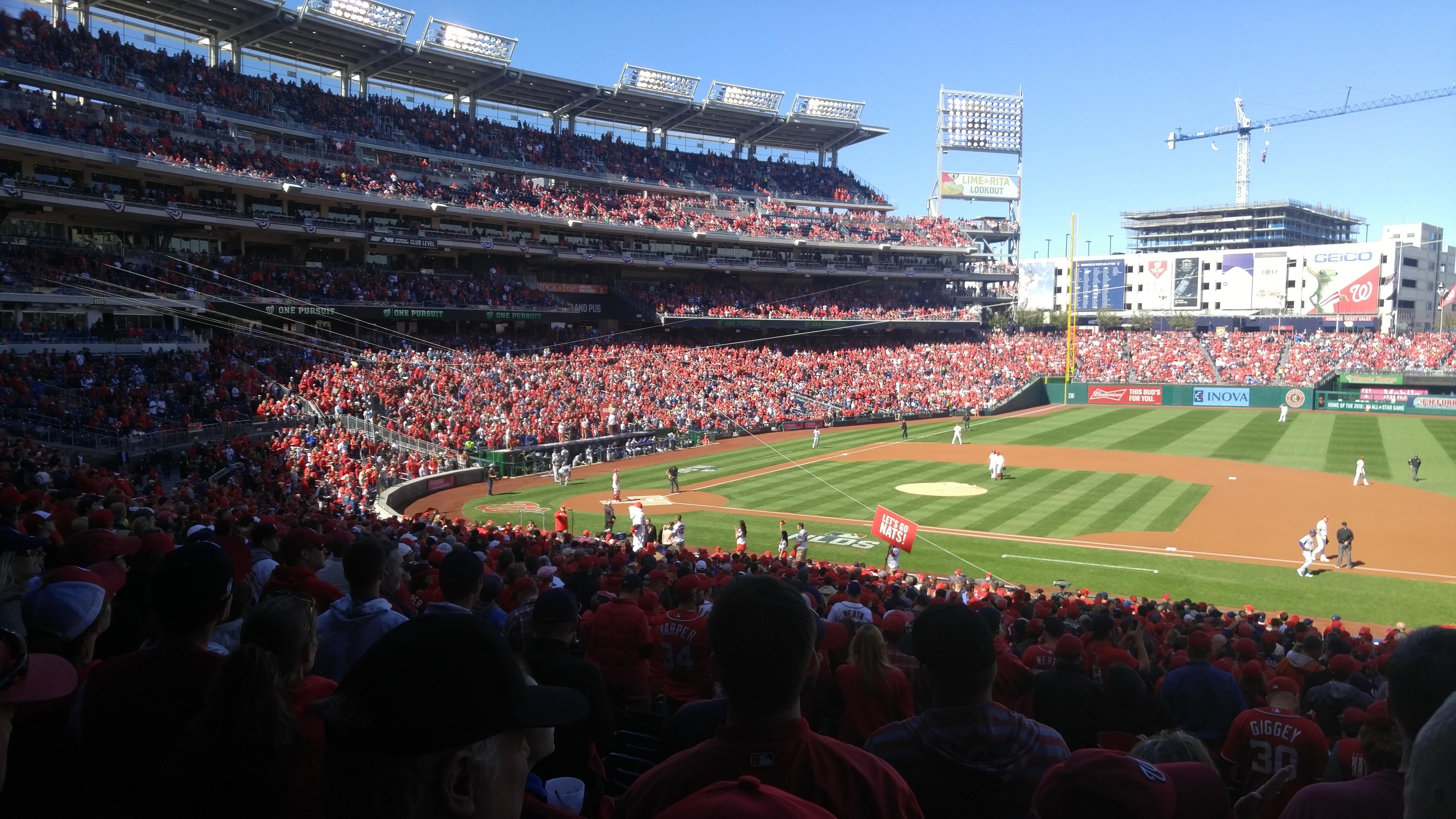 Nationals Park Section 130 Row UU Seat 5