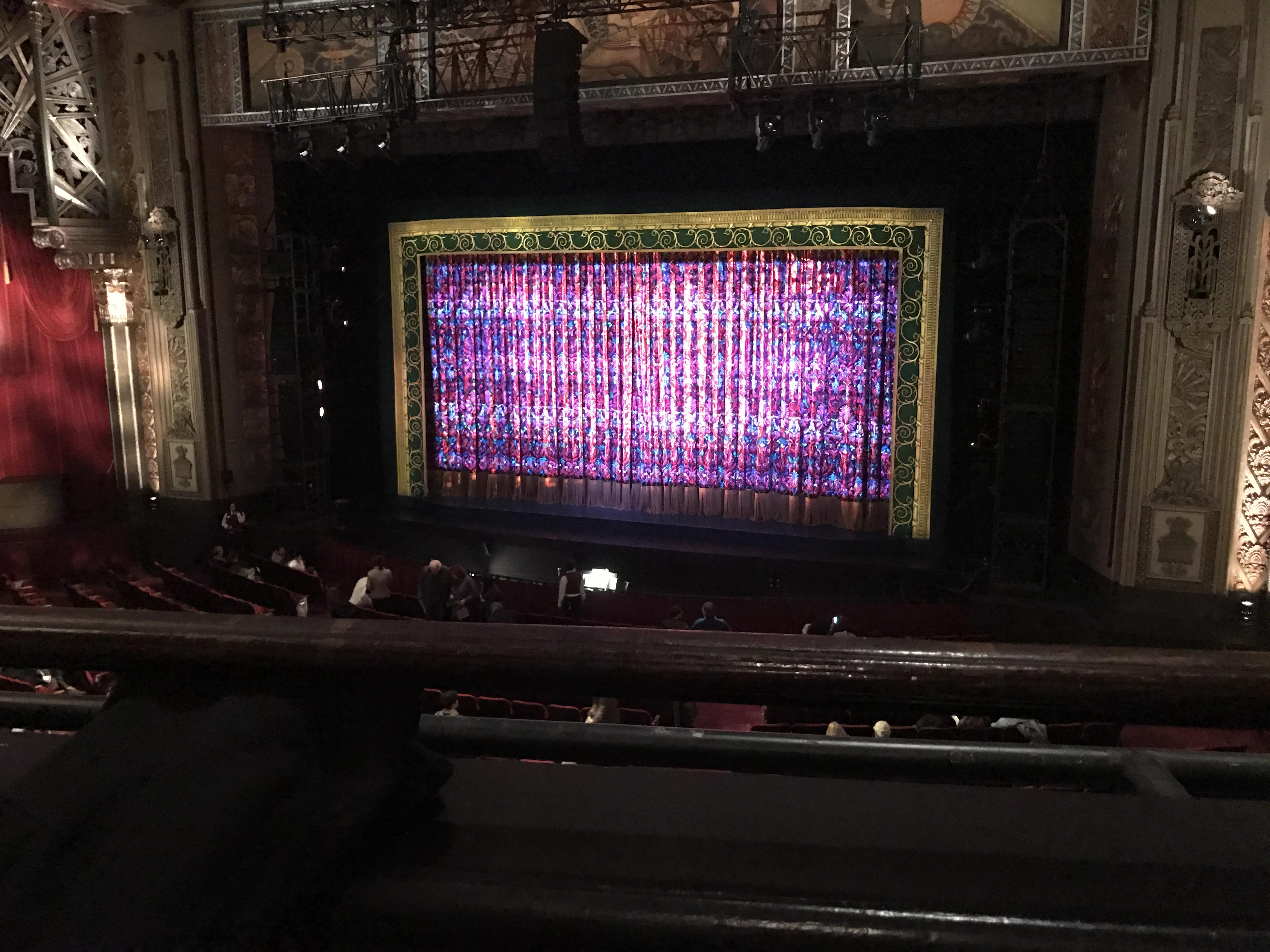 Hollywood Pantages Theatre Section Mezzanine RC Row A Seat 208