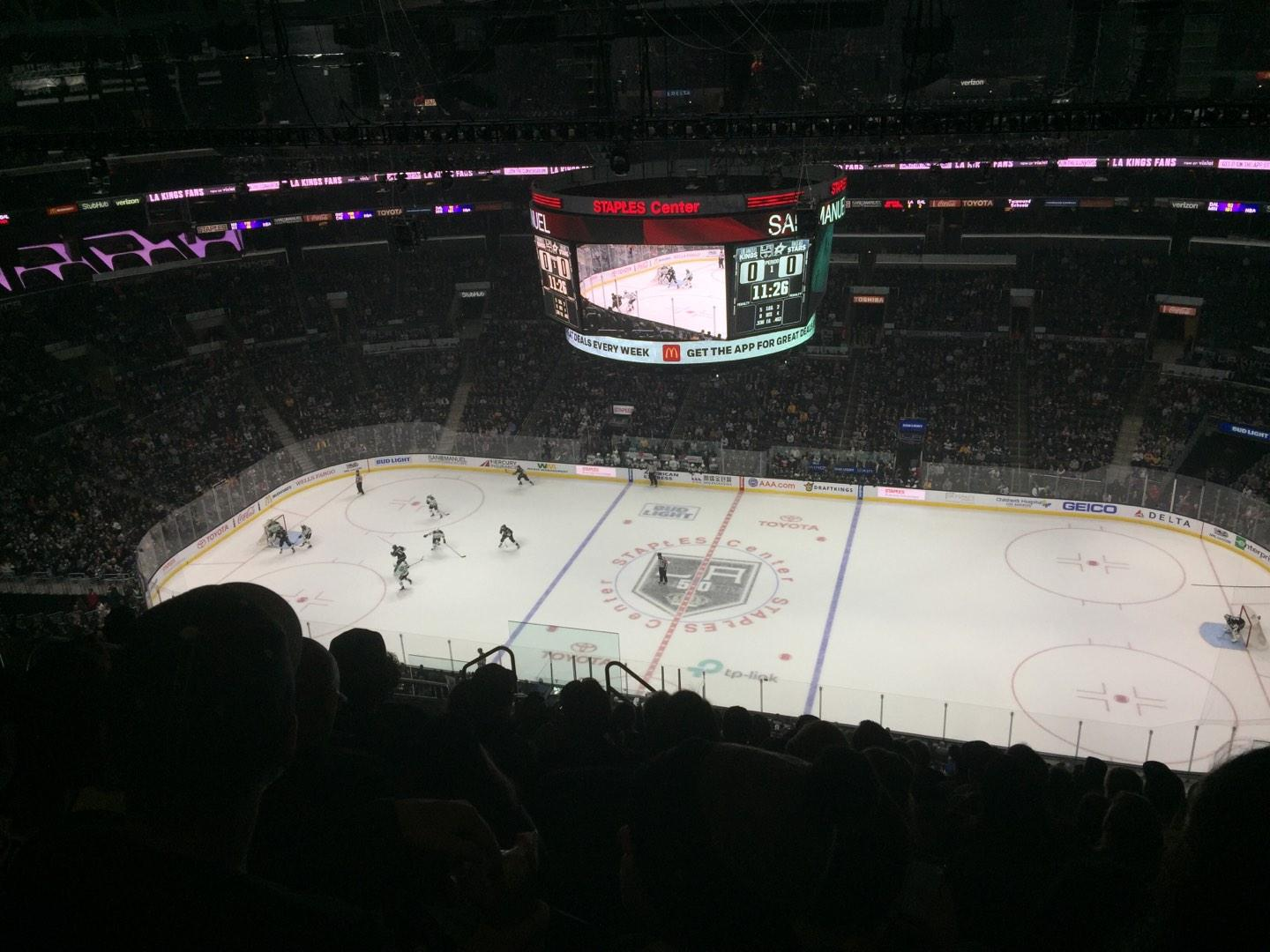 Staples Center Section 317 Row 12 Seat 8