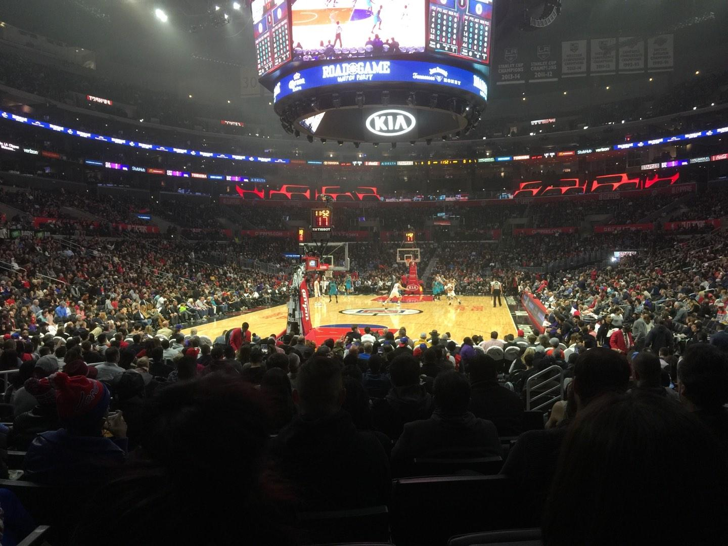 Staples Center Section 106 Row 9 Seat 11