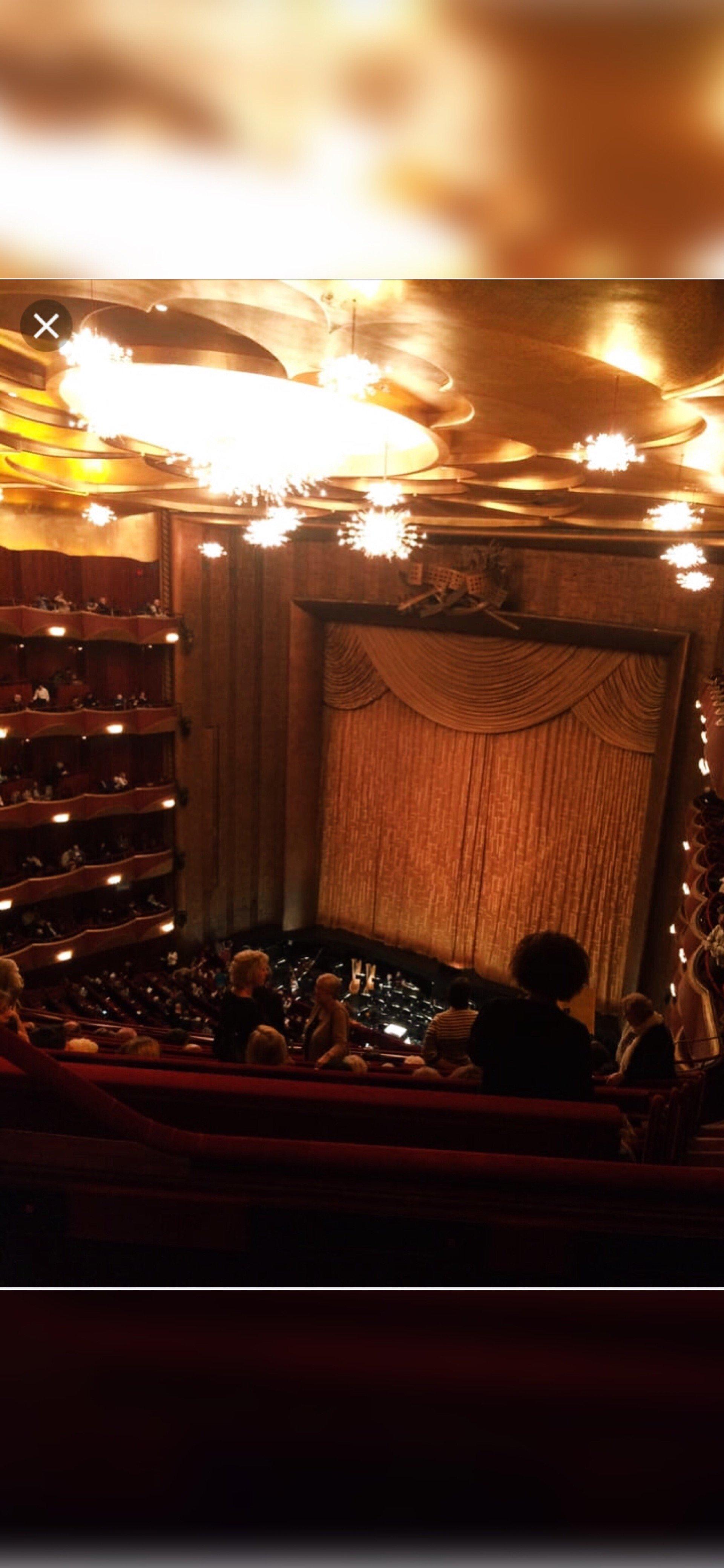 Metropolitan Opera House - Lincoln Center Section Balcony Row L Seat 5