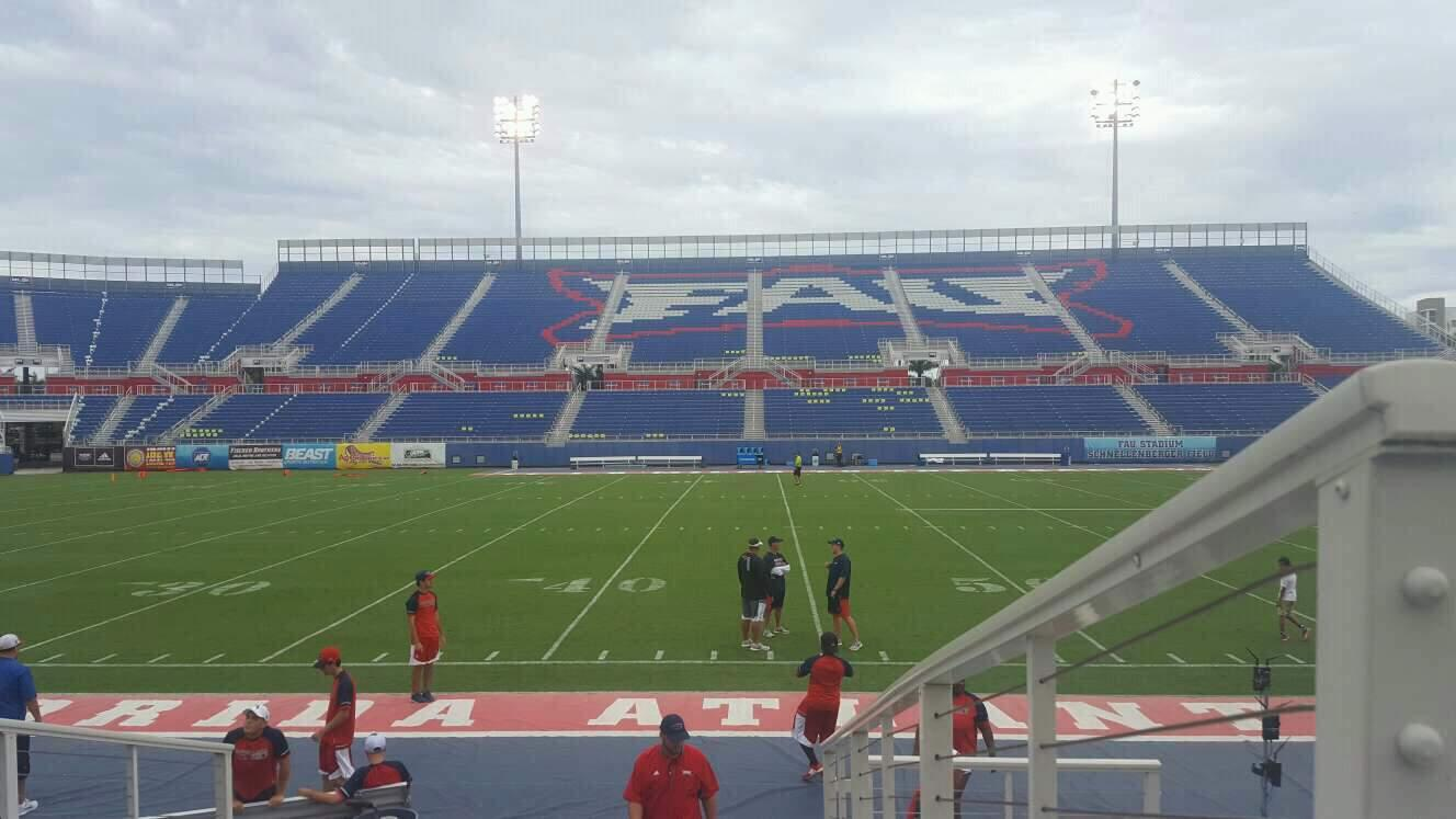 FAU Stadium Section 106 Row F Seat 1