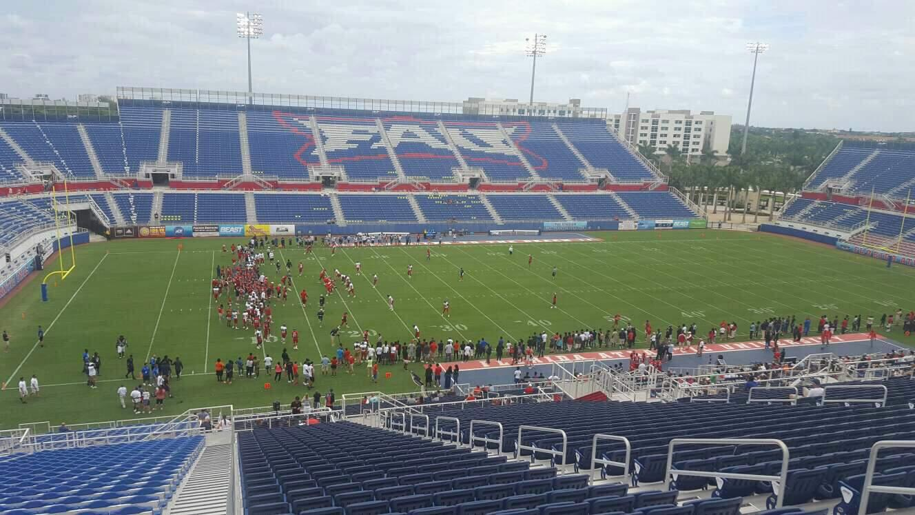FAU Stadium Section 210 Row HH Seat 8