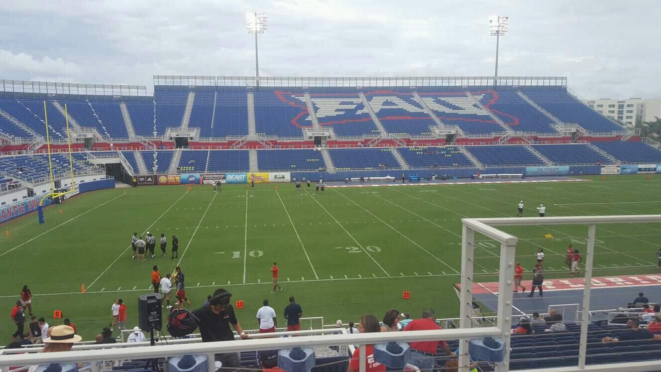 FAU Stadium Section 209 Row C Seat 3