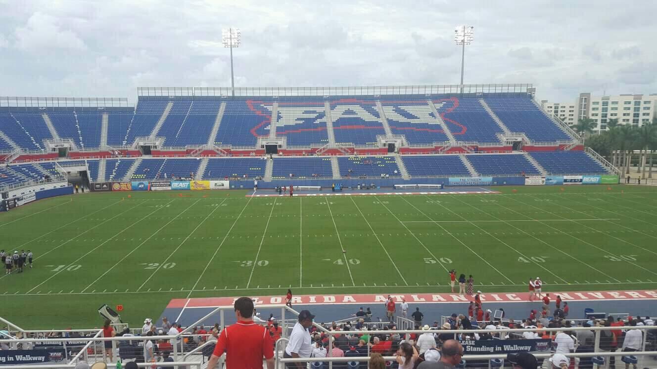 FAU Stadium Section 106 Row R Seat 15