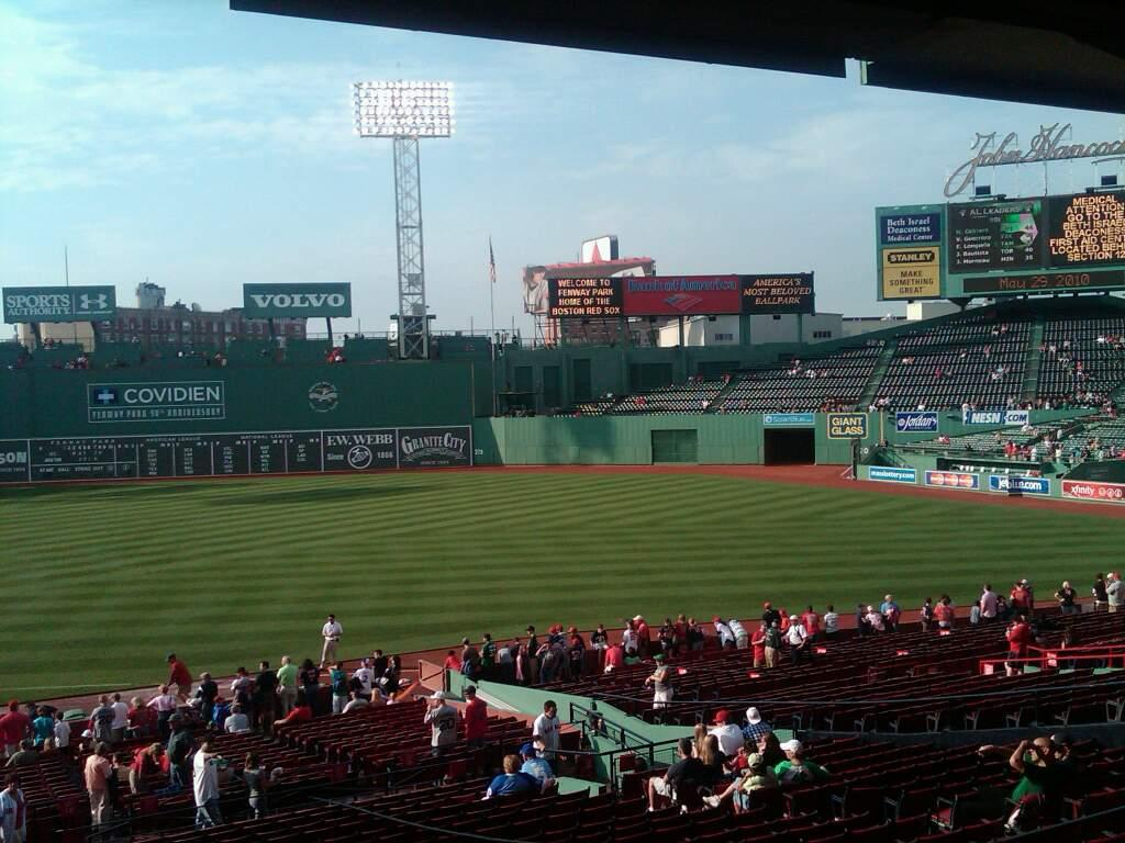Fenway Park Section Grandstand 13 Row 8 Seat 14