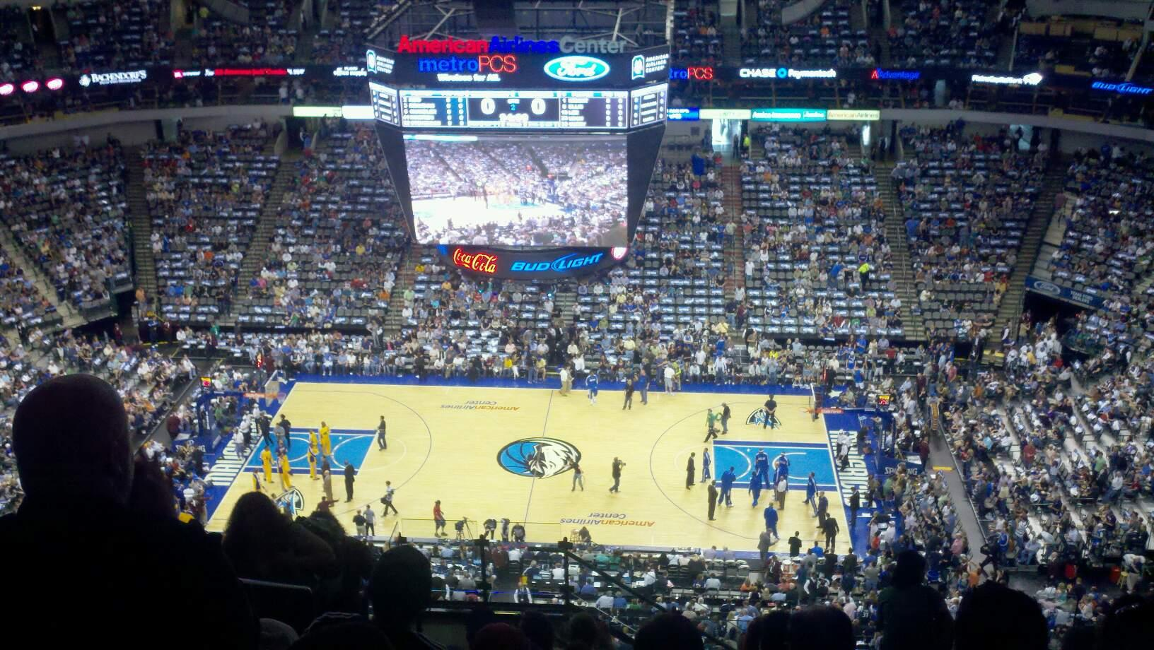 American Airlines Center Section 325 Row S Seat 18