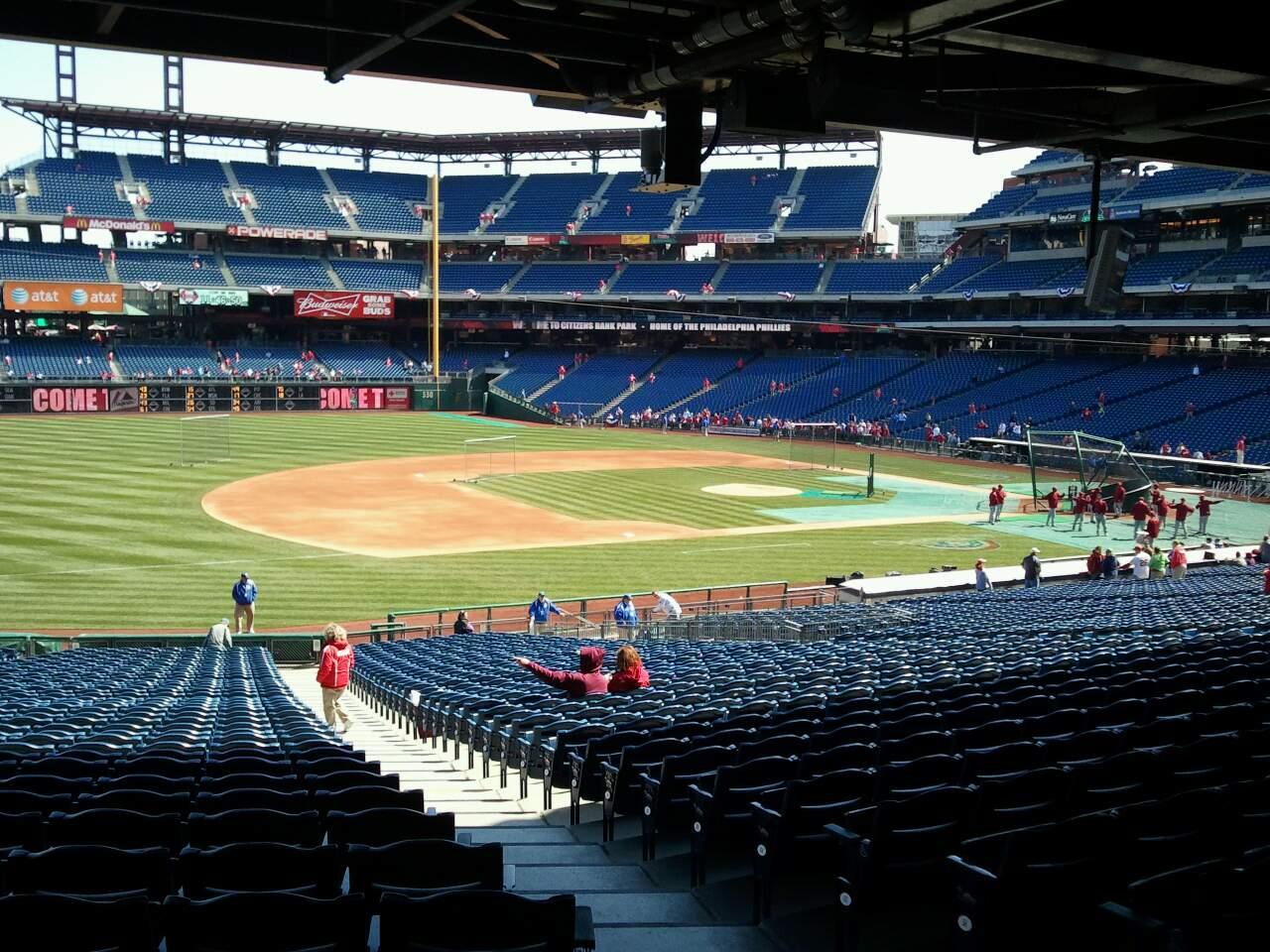 Citizens Bank Park Section Standing Room Row 1