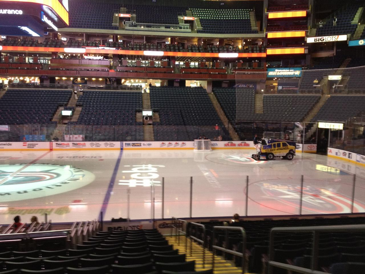 Nationwide Arena Section 103 Row S Seat 2 Columbus Blue