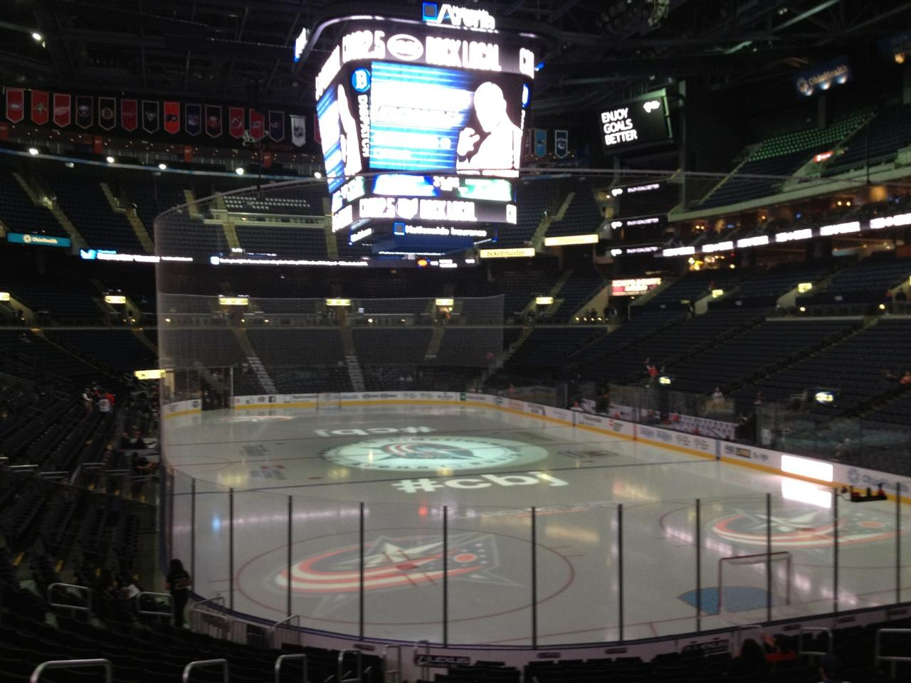 Nationwide Arena Section 110 - Columbus Blue Jackets - RateYourSeats.com