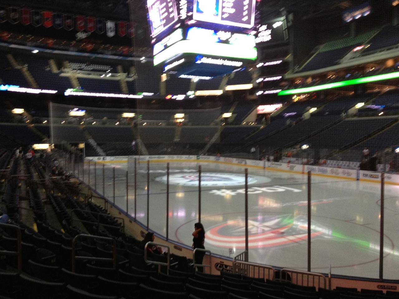 Columbus Blue Jackets Seat View for Nationwide Arena Section 111, Row L, Seat 8
