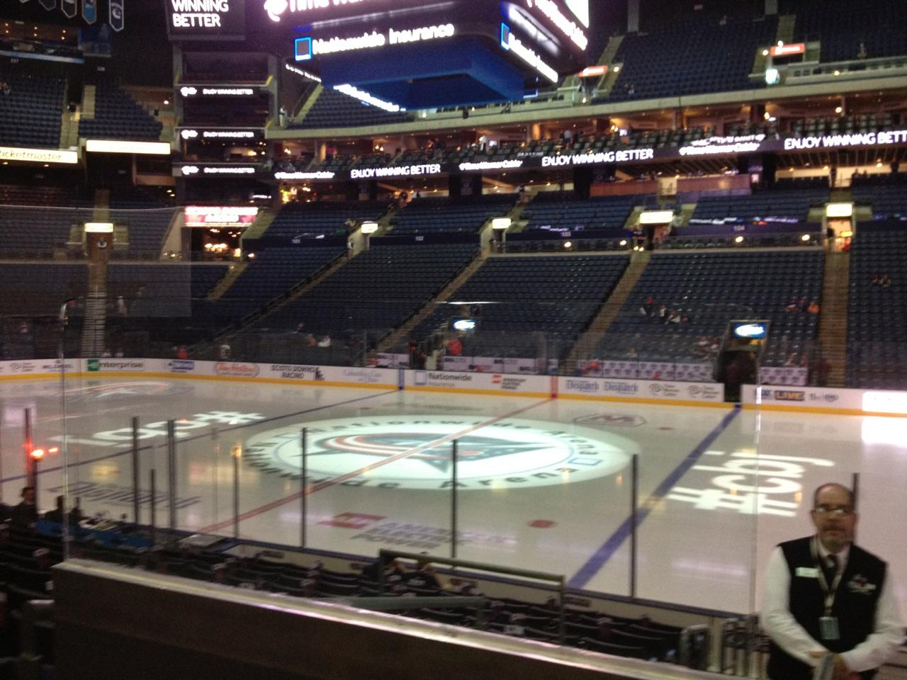 Columbus Blue Jackets Seat View for Nationwide Arena Section 113, Row N, Seat 20