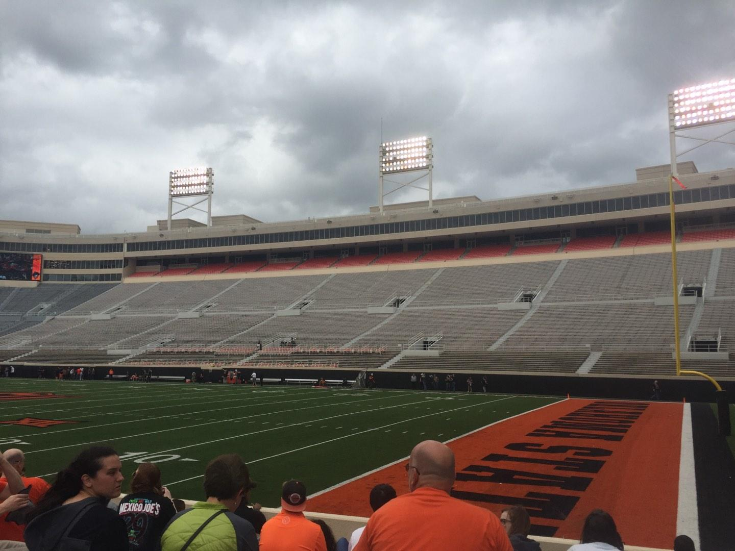 Boone Pickens Stadium Section 101 Row 10 Seat 20