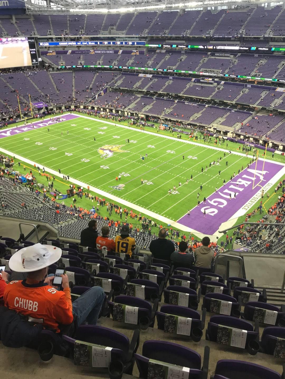 U.S. Bank Stadium Section 306 Row 8 Seat 3
