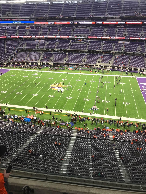U.S. Bank Stadium  Section 310 Row 2 Seat 14