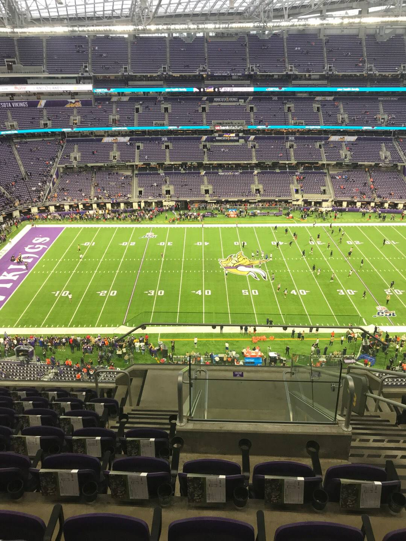 U.S. Bank Stadium Section 313 Row 8 Seat 3