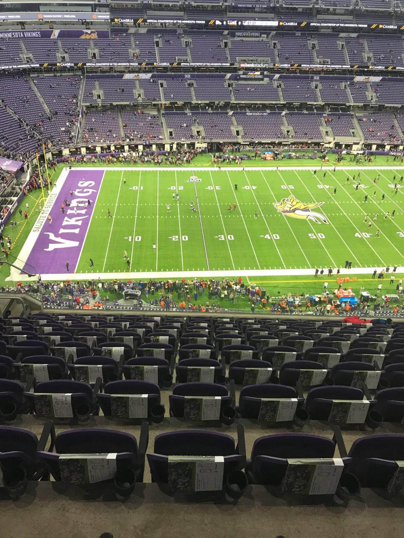 U.S. Bank Stadium Section 314 Row 10 Seat 17