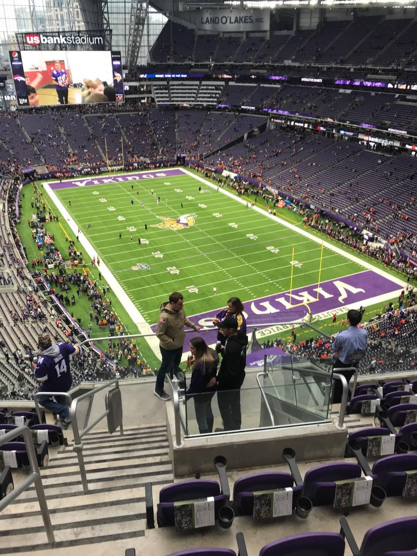 U.S. Bank Stadium Section 330 Row 8 Seat 18