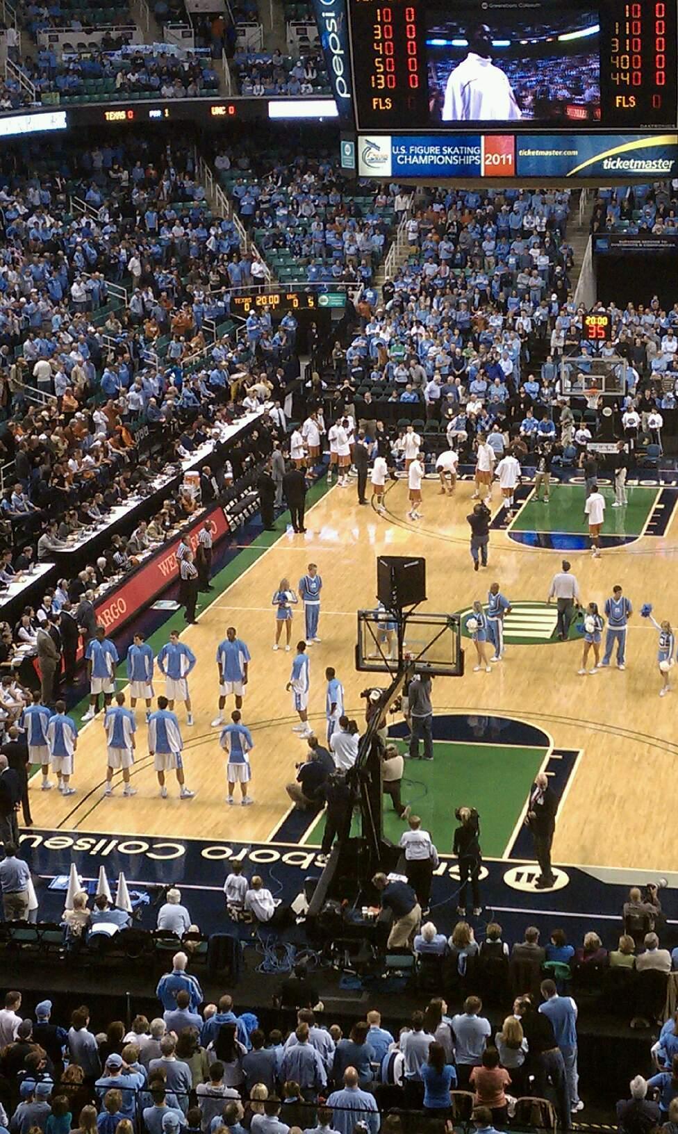 Greensboro Coliseum Section 201