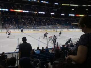 Amalie Arena Section 103 Row K