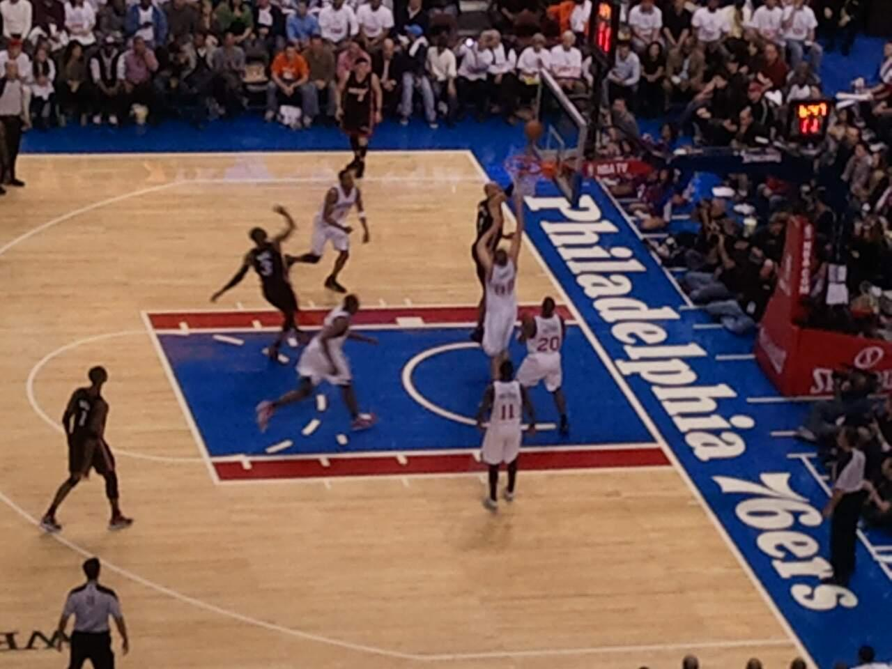 Wells Fargo Center Section 201 Row 7 Seat 4