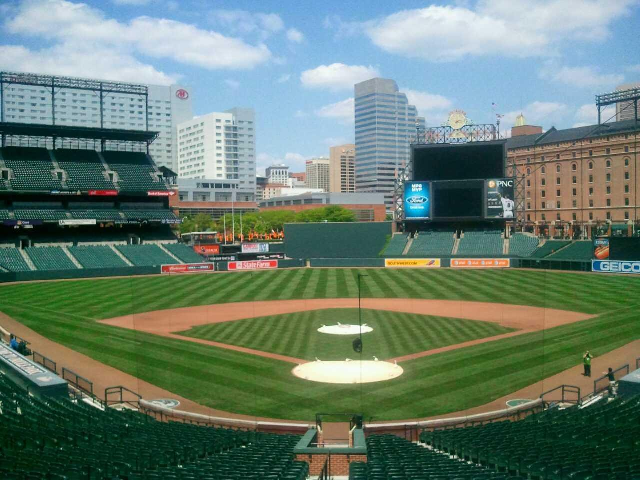 Oriole Park at Camden Yards Section Press box