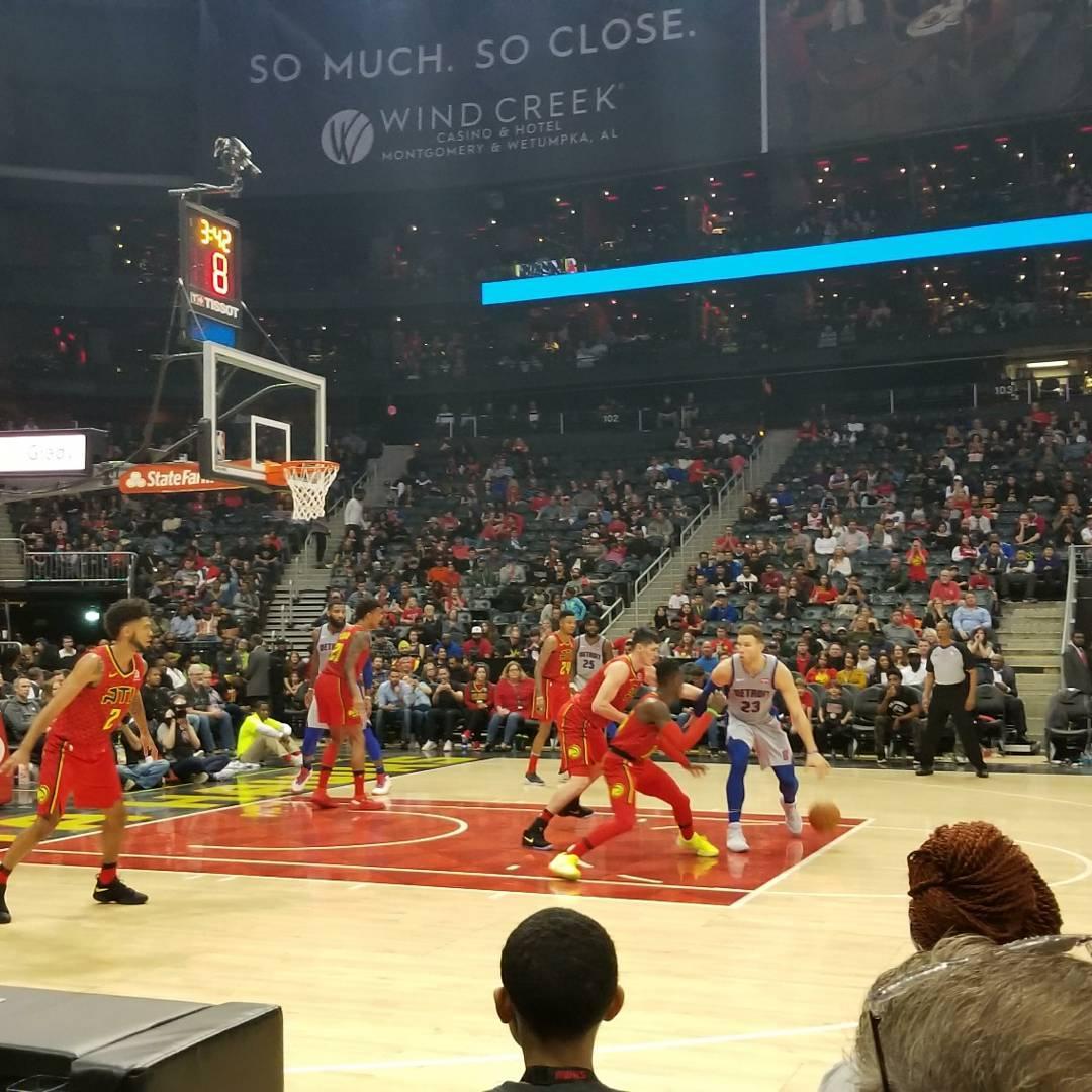 State Farm Arena Section 120 Row Aaa Seat 5 Atlanta Hawks Vs Detroit Pistons Shared By Ktarentino