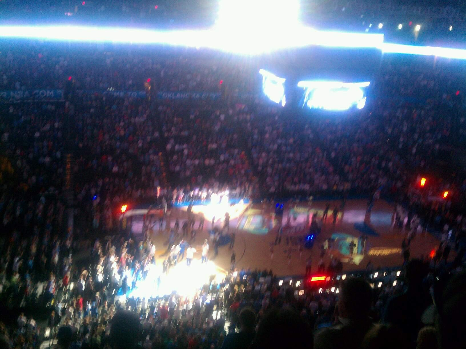 Chesapeake Energy Arena Section 326 Row j Seat 17