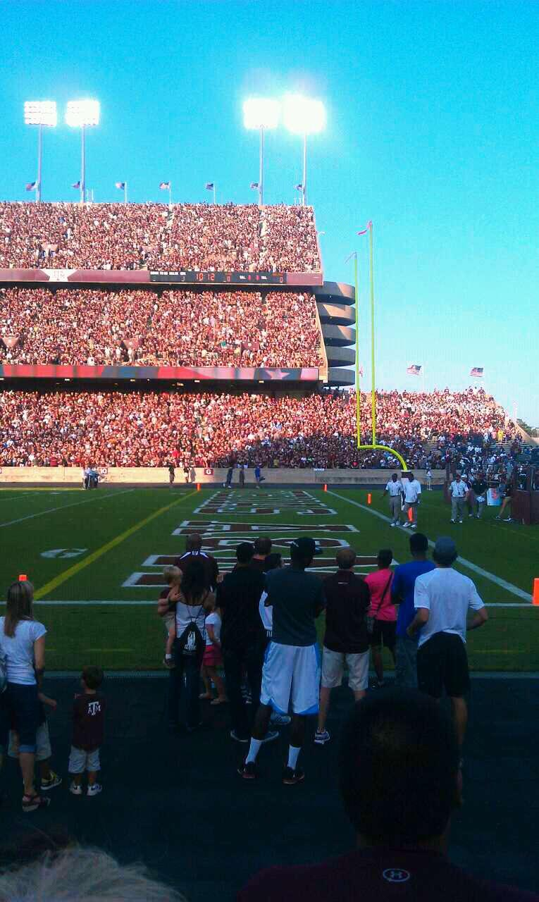 Kyle Field Section 102 Row 3 Seat 13
