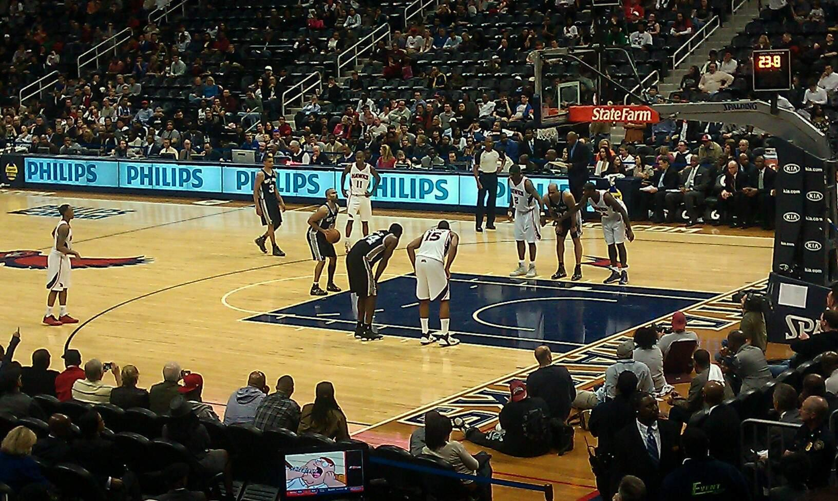 State Farm Arena Section 101 Row Q Seat 13
