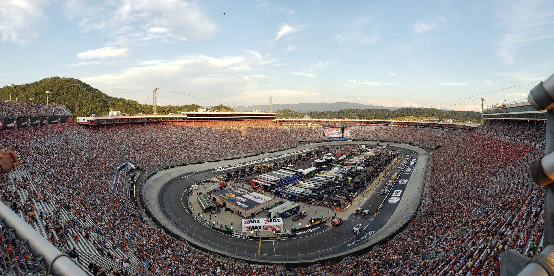 Bristol Motor Speedway Section Wallace Tower A Row 1 Seat 1