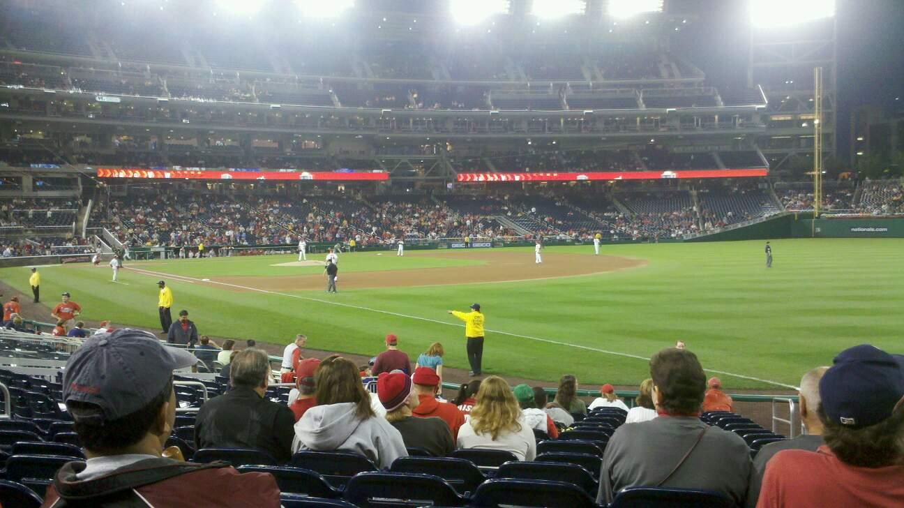 Nationals Park Section 135 Row U Seat 3