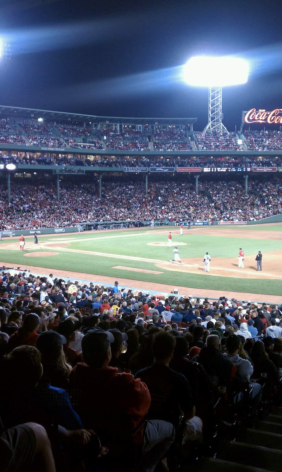 Fenway Park Section Field Box 12 Row 6 Seat 18