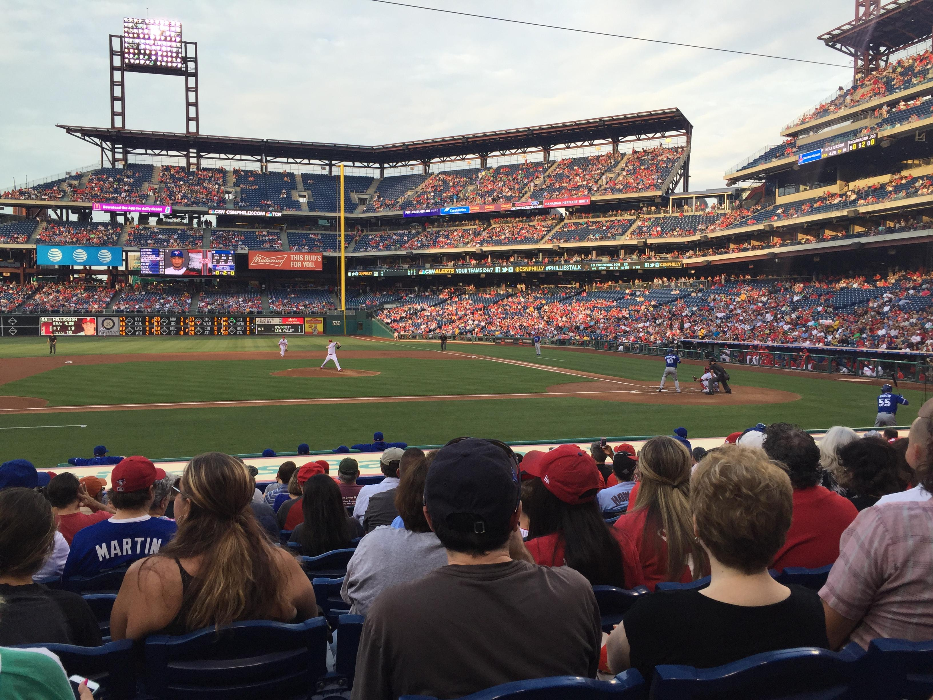 Citizens Bank Park Section 130 Row 12 Seat 13